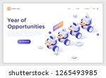 landing page with robots...   Shutterstock .eps vector #1265493985