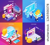 financial technology isometric... | Shutterstock .eps vector #1265500378