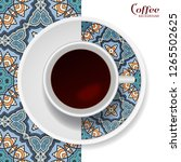 cup of coffee with colorful... | Shutterstock .eps vector #1265502625