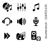 set vector computer icons of... | Shutterstock .eps vector #126551135