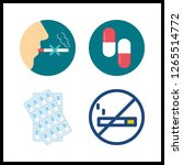 4 addiction icon. vector... | Shutterstock .eps vector #1265514772
