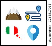 destination icon. italy and... | Shutterstock .eps vector #1265517085