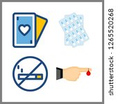 addiction icon. no smoking and... | Shutterstock .eps vector #1265520268