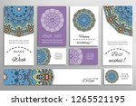 big set of greeting cards or... | Shutterstock .eps vector #1265521195