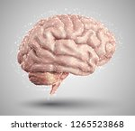 human brain and abstract design ... | Shutterstock .eps vector #1265523868