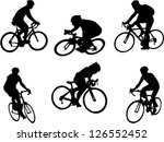 bicyclists collection vector | Shutterstock .eps vector #126552452