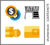 cash icon. atm and wallet... | Shutterstock .eps vector #1265524675