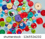 bright buttons on blue paper...   Shutterstock . vector #1265526232