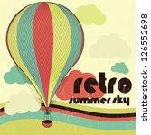 retro hot air balloon  t shirt... | Shutterstock .eps vector #126552698