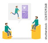 vector illustration with man... | Shutterstock .eps vector #1265529268