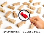 magnifying glass is looking at...   Shutterstock . vector #1265535418