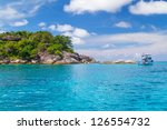turquoise water of andaman sea...   Shutterstock . vector #126554732