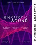 electronic party. dynamic... | Shutterstock .eps vector #1265559445