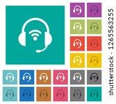 wireless headset multi colored... | Shutterstock .eps vector #1265563255