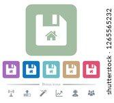 start file white flat icons on... | Shutterstock .eps vector #1265565232