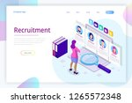isometric online job search and ... | Shutterstock .eps vector #1265572348