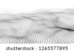 wave 3d. wave of particles....   Shutterstock .eps vector #1265577895