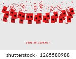 albania garland flag with... | Shutterstock .eps vector #1265580988