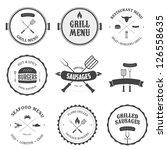 restaurant menu vintage design... | Shutterstock .eps vector #126558635