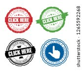 stamp click here set. | Shutterstock . vector #1265592268