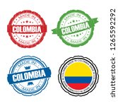 stamp made in colombia label... | Shutterstock . vector #1265592292