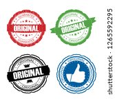 stamp original set. | Shutterstock . vector #1265592295