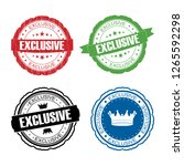 stamp exclusive set. | Shutterstock . vector #1265592298