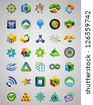 set of bright signs and symbols ... | Shutterstock .eps vector #126559742