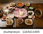 korean style grilled meat | Shutterstock . vector #1265611405
