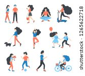 vector  people at park... | Shutterstock .eps vector #1265622718