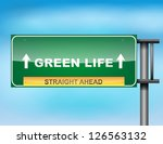 image of a glossy highway sign... | Shutterstock .eps vector #126563132