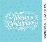 merry christmas. typography.... | Shutterstock .eps vector #1265641192