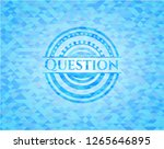 question sky blue emblem with... | Shutterstock .eps vector #1265646895