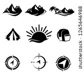 travel camp icons set vector | Shutterstock .eps vector #1265646988