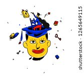illustration of a student in a... | Shutterstock .eps vector #1265649115