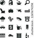 solid black vector icon set  ... | Shutterstock .eps vector #1265674258