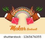 illustration of happy makar... | Shutterstock .eps vector #1265676355