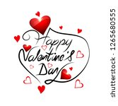 elegant happy valentine's day... | Shutterstock .eps vector #1265680555