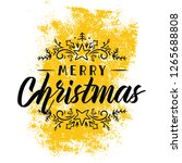 merry christmas. typography.... | Shutterstock .eps vector #1265688808