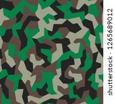geometric camo  seamless... | Shutterstock .eps vector #1265689012