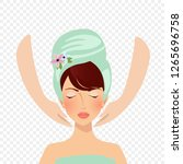 spa procedures and cosmetology. ... | Shutterstock .eps vector #1265696758