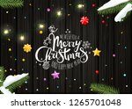 merry christmas wishing card... | Shutterstock .eps vector #1265701048