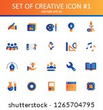 set of creativity icons with...   Shutterstock .eps vector #1265704795