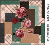 silk scarf design  fashion... | Shutterstock . vector #1265707828
