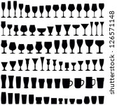 glass collection   vector... | Shutterstock .eps vector #126571148