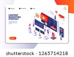 content marketing landing page. ... | Shutterstock .eps vector #1265714218