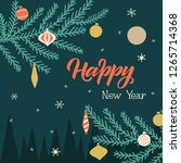 peaceful new year greeting card.... | Shutterstock .eps vector #1265714368