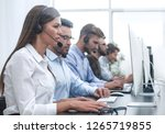 call center employee in the... | Shutterstock . vector #1265719855