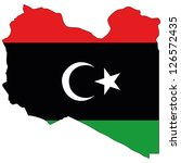 libya vector map with the flag... | Shutterstock .eps vector #126572435