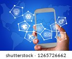 communication technology with... | Shutterstock . vector #1265726662